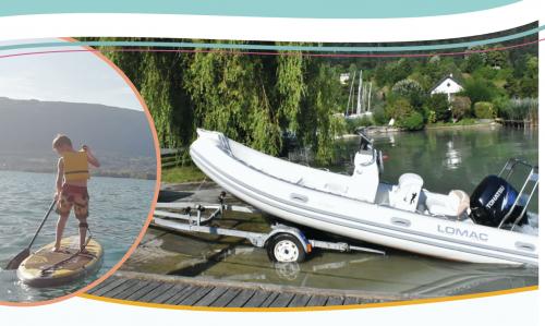 Lac d'Annecy - actions de sensibilisation « moule quagga » et autres espèces exotiques envahissantes