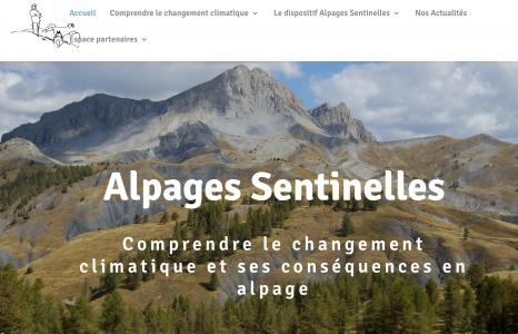 Alpages Sentinelles sur le Web